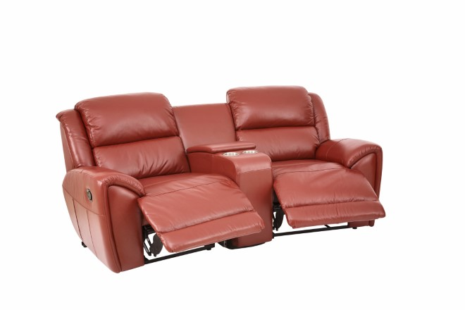 Mercedes 2 Seater Recliner With Drink Holder