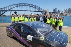 UNSW student solar car sets new efficiency world record 1