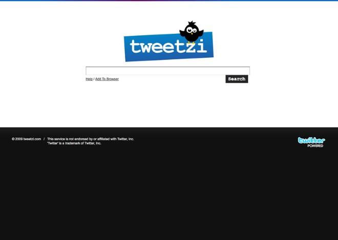 Tweetzi Twitter Search Homepage