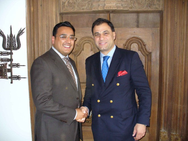 Raj Rana and Lord karan Billimoria
