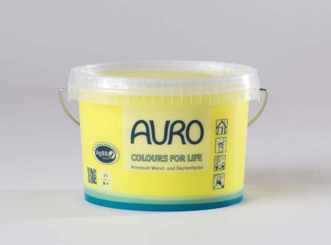 AURO Premium Wand und Deckenfarbe COLOURS FOR LIFE 1 Liter