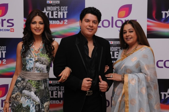 Judges of India s Got Talent Khoj 2 Sonali Bendre Sajid Khan Kirron Kher (1)