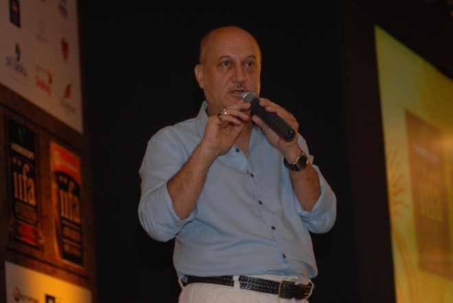 Anupam Kher on Day 2 of IIFA in Colombo