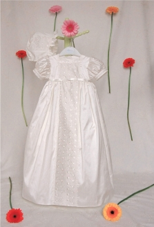 Maisy may silk christening gown