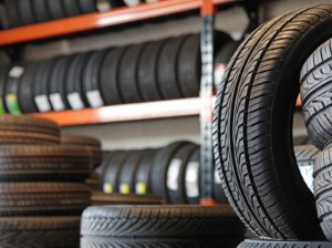 Tyre fitting centre stock