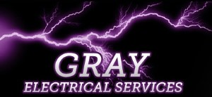 Gray electrical logo