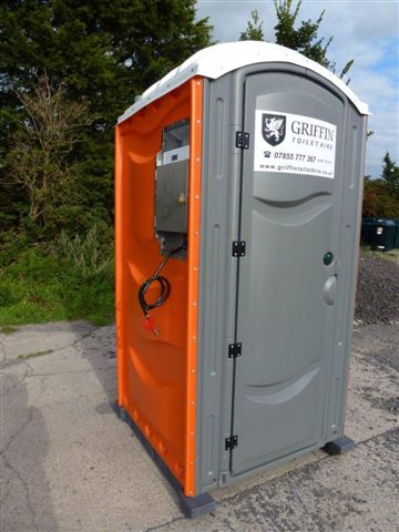 Side View of Portable Toilet from Griffin Toilet Hire