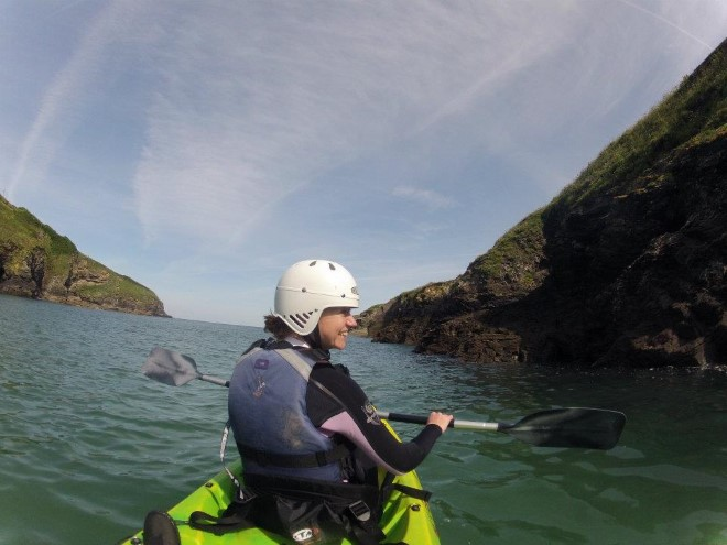 Sea kayaking north cornwall