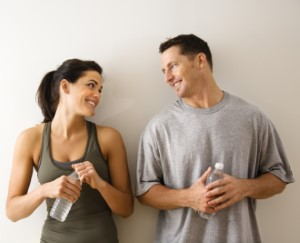 723872 Fitness man and woman