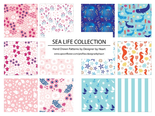 SEA LIFE COLLECTION PATTERNS