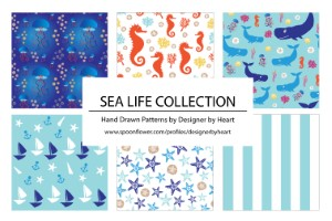 BOYS SEA LIFE COLLECTION PATTERNS