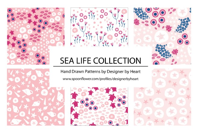GIRLS SEA LIFE COLLECTION PATTERNS