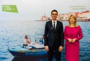 1.Msc. Maja Pak, the director of the STB, and Romain Perrier, Michelin Sales and Marketing Director. Photo by Nino Verdnik, Blenda