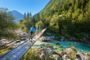 Cycling in Soca Valley by Slovenian Tourist Board
