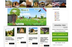 Website screenshot bestglampingsites dot com press