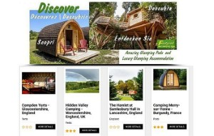 Discover glamping website screenshot bestglampingsites dot com pr press