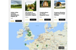 Glamping map search featured sites best glamping sites dot com pr press