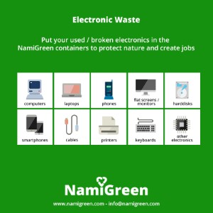 NamiGreen e waste Africa flyer