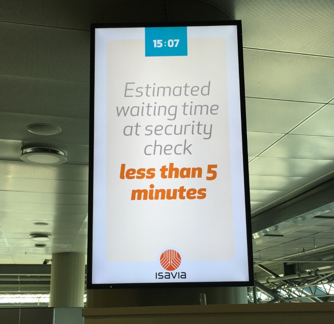 Keflavik Airport Wait Time Sign
