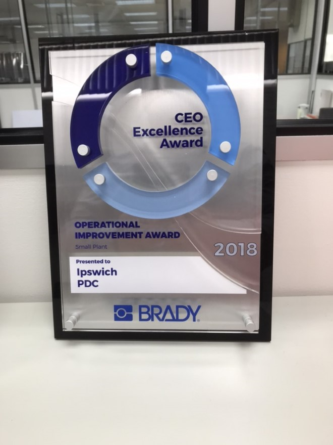 The Brady Corporation CEO Excellence Award